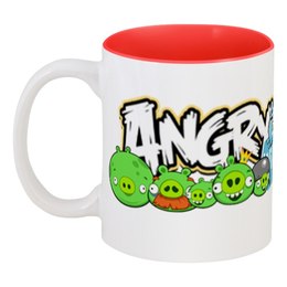 "Кружка цветная внутри ""Angry Birds"" - angry birds"