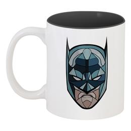 """Кружка цветная внутри """"Бетмэн (Batman)"""" - batman, бетмэн"""
