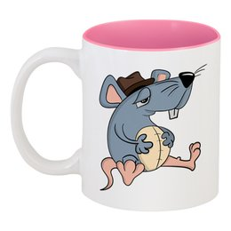 "Кружка цветная внутри ""Крыса"" - новый год, мышь, крыса, год крысы, 2020 год"