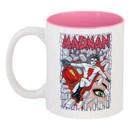 "Кружка цветная внутри ""Madman"" - madman"