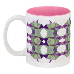 """Кружка цветная внутри """"Артишок"""" - белый, фиолетовый, зеленый, розовый"""