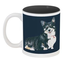 """Кружка цветная внутри """"Моя любимая собака"""" - животные, собака, символгода, корги, вельшкорги"""
