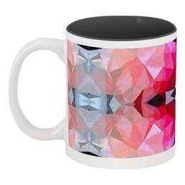 """Кружка цветная внутри """"Розовая бомба"""" - серый, черный, голубой, розовый, фуксия"""