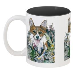 """Кружка цветная внутри """"Моя любимая собака"""" - зима, собака, новыйгод, корги, вельшкорги"""