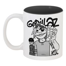 """Кружка цветная внутри """"Gorillaz"""" - gorillaz, гориллаз, музыка, группы"""