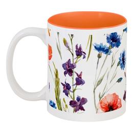 """Кружка цветная внутри """"Полевые цветы"""" - красиво, цветы, природа, полевые цветы"""