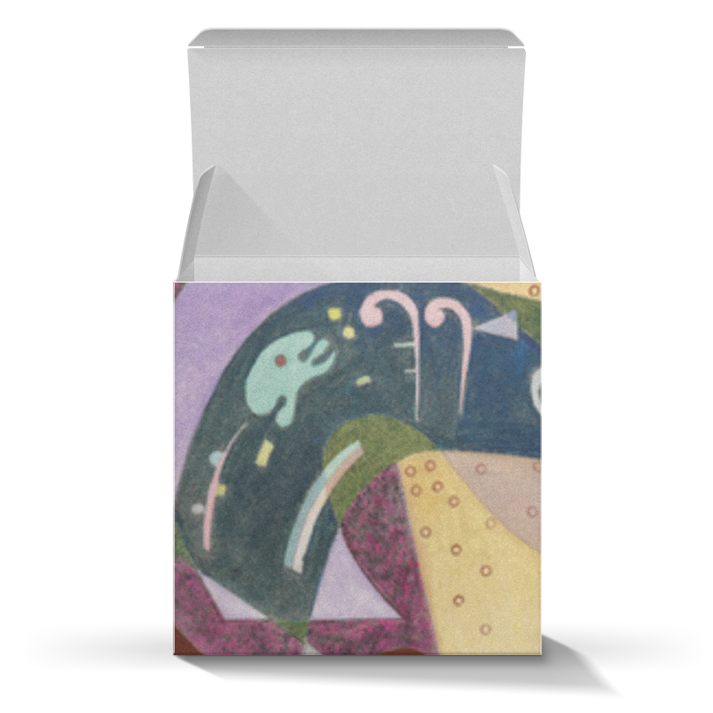 Подарочная коробка-куб Printio Негнущееся и согнутое (василий кандинский)