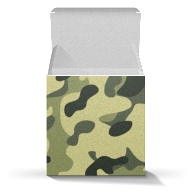Подарочная коробка-куб Printio Зеленый хаки плакат a2 42x59 printio плутон