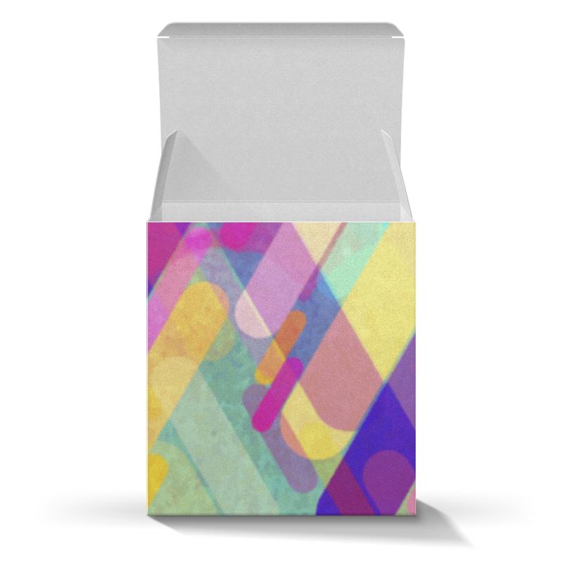 Подарочная коробка-куб Printio Разноцветная абстракция lorado оливки фаршированные лимоном 314 мл