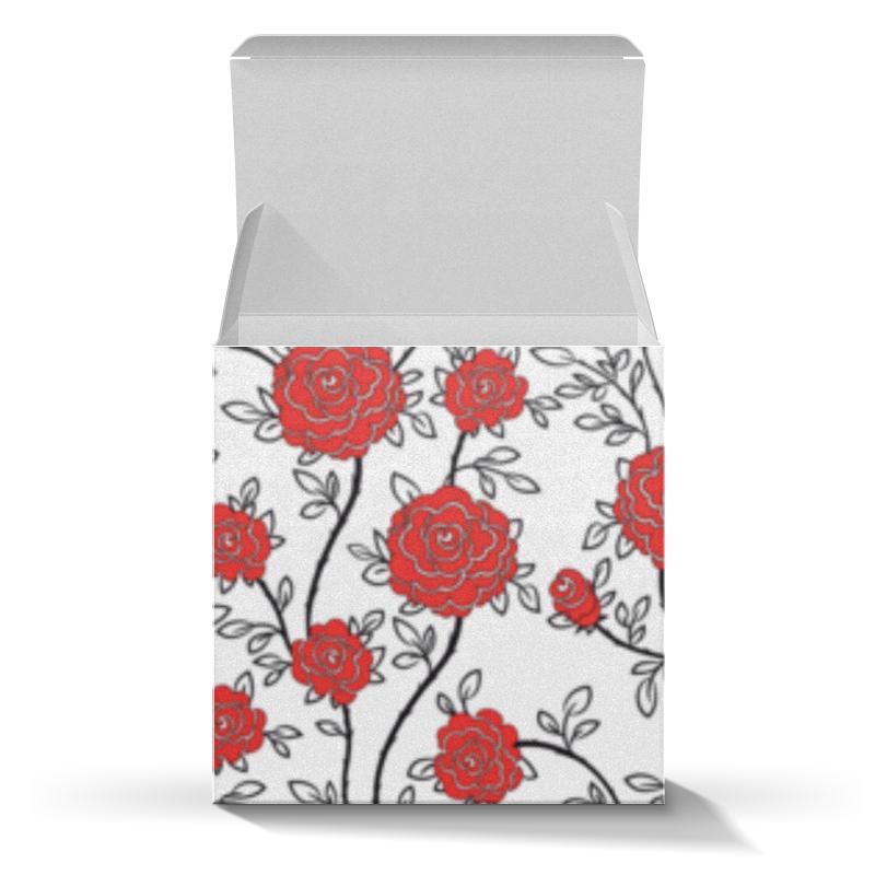 Коробка для кружек Printio Красные розы молоко