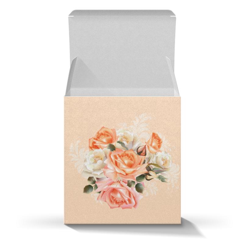 Коробка для кружек Printio Чайная роза цена
