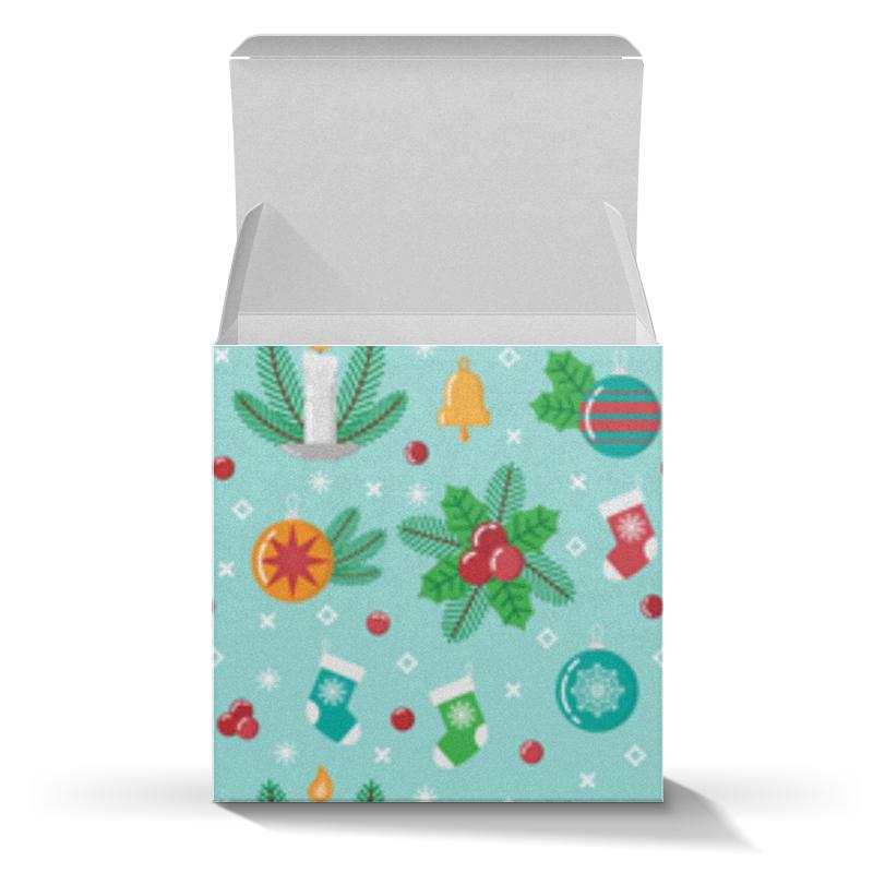 Коробка для кружек Printio Новогодний паттерн коробка для кружек printio собака