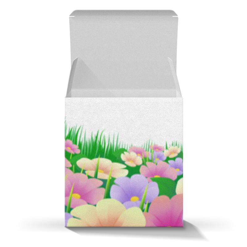 Коробка для кружек Printio Весенние цветочки подарочная коробка куб printio цветочки