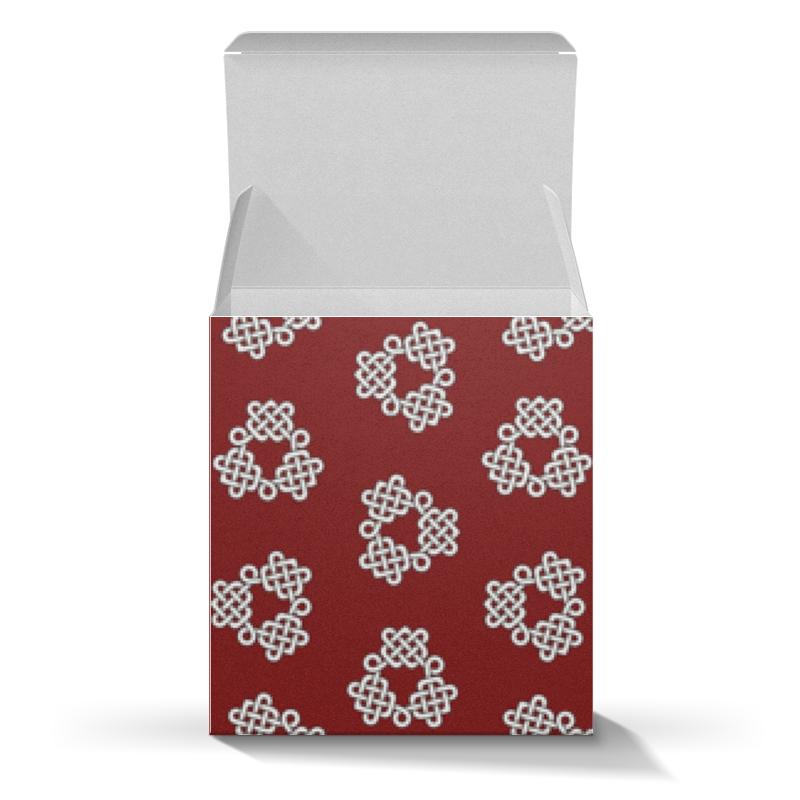 Коробка для кружек Printio Красная коробка с кельтспиннер узором коробка для кружек printio косточки и следы