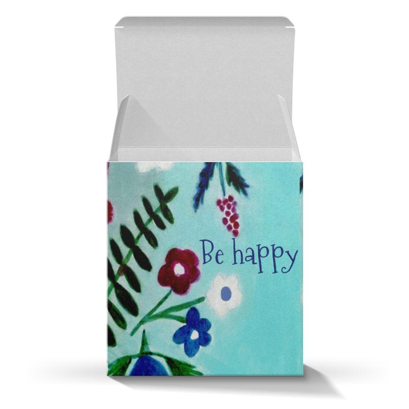 Коробка для кружек Printio Цветы на голубом коробка для кружек printio пряничное настроение