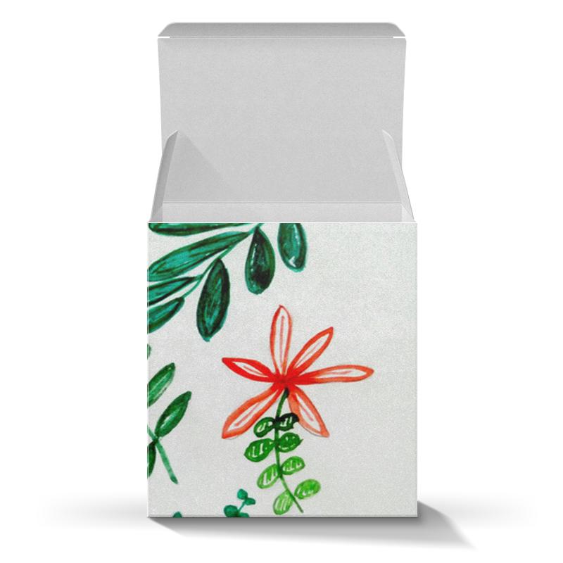 Коробка для кружек Printio Цветы на белом