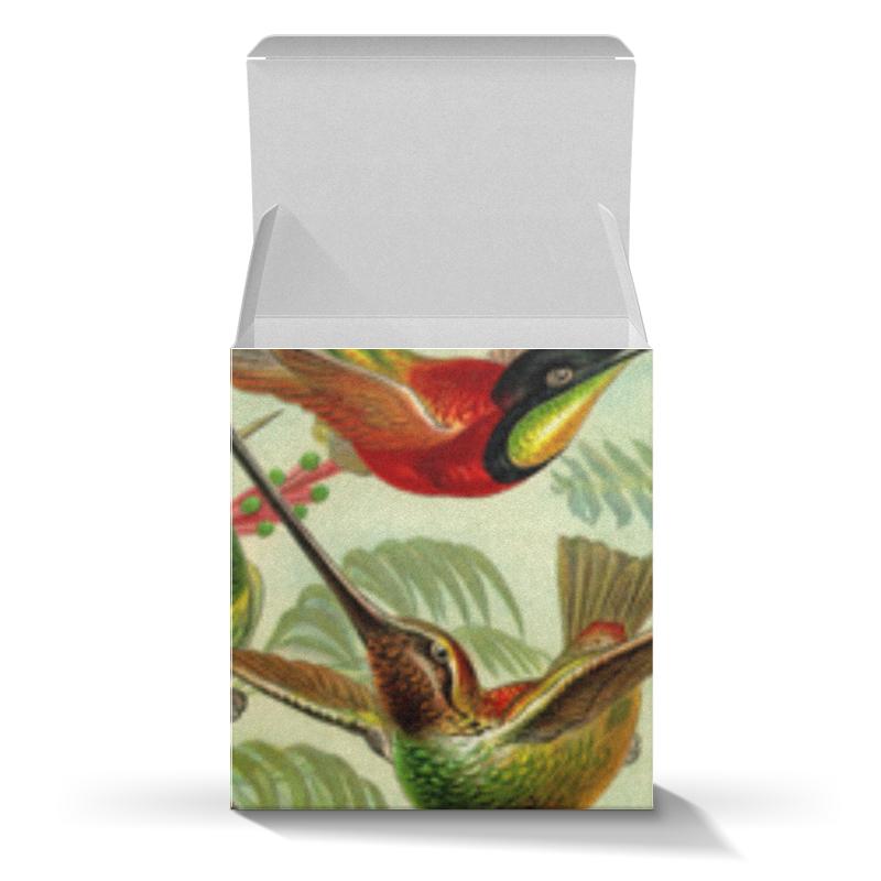 Подарочная коробка-куб Printio Колибри (trochilidae, ernst haeckel) chokocat любимой маме открытка с шоколадом 20 г