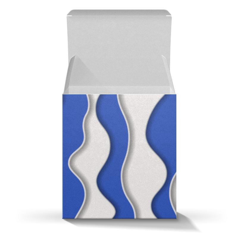 Коробка для кружек Printio Абстрактные волны подарочная коробка малая пенал printio цвета морской волны