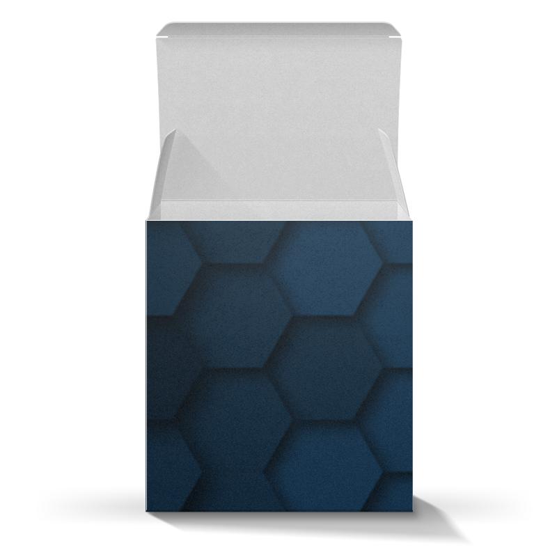Коробка для кружек Printio Синие соты ua 26 ваза соты тайланд