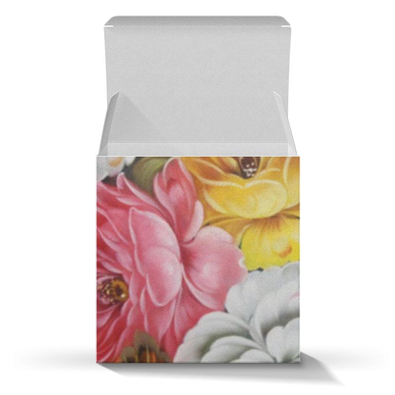 Подарочная коробка-куб Printio Цветы