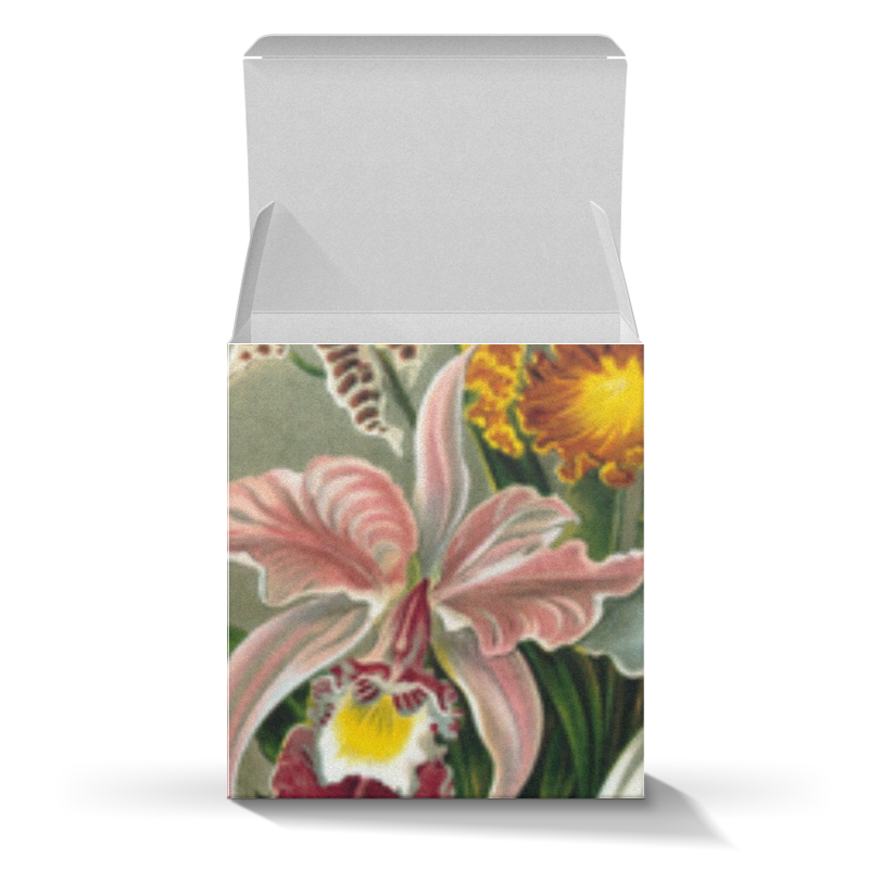 Подарочная коробка-куб Printio Любимой девушке (орхидеи) круговова ю ред любимой жене маленькие секреты большого счастья