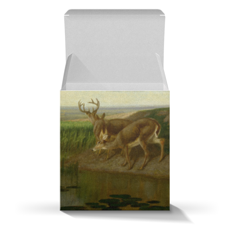 Коробка для кружек Printio Deer on the prairie the prairie