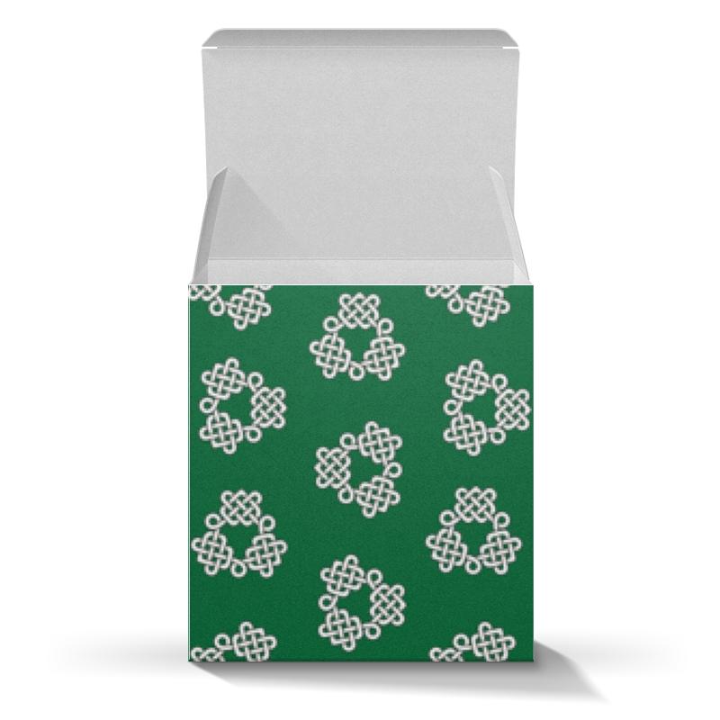 Коробка для кружек Printio Зелёная коробка с кельтспиннер узором коробка для кружек printio косточки и следы