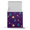 """Подарочная коробка-куб """"Елки и заезды"""" - звезды, елки, 2018, темный фон, новый год 2018"""