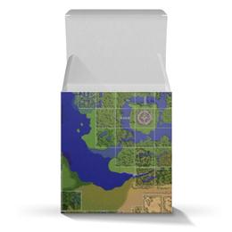 "Подарочная коробка-куб ""Карта мира Ragnarok Online"" - mmorpg, ragnarok online, рагнарок онлайн"