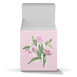 "Коробка для кружек ""With love"" - акварель, цветы, pink, watercolor flowers, любовь"