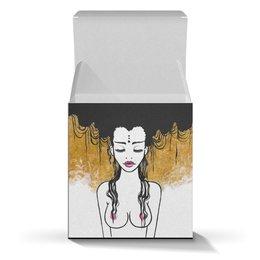 """Коробка для кружек """"Golden (vol.2)"""" - любовь, девушка, рисунок, золотой, релакс"""