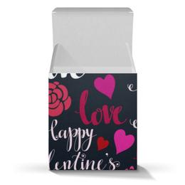 """Подарочная коробка-куб """"День Св. Валентина"""" - день св валентина, валентинка, сердца, любовь"""