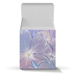 """Подарочная коробка-куб """"Нежные цветы"""" - цветы"""