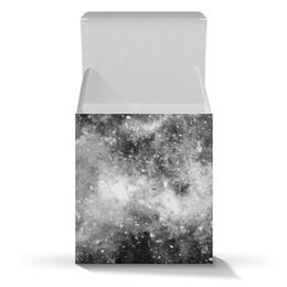 """Подарочная коробка-куб """"Космос (черно-белый)"""" - space, космос, galaxy, cosmos design, space art"""