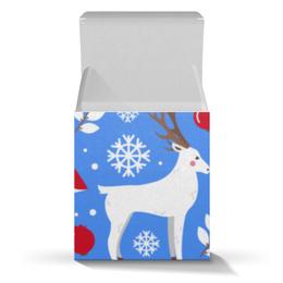 """Коробка для кружек """"Олени"""" - новый год, олень, снежинки"""