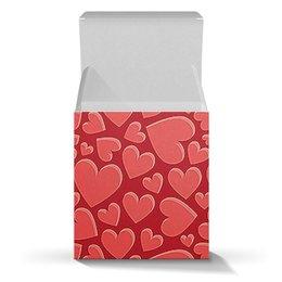 """Коробка для кружек """"СЕРДЕЧНЫЙ РИТМ"""" - сердца, абстракция, стиль эксклюзив креатив красота яркость, арт фэнтези"""