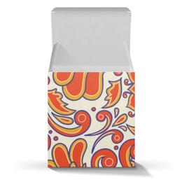 """Подарочная коробка-куб """"Цветочный узор"""" - цветочный, узор, рисунок, орнамент, стильный"""
