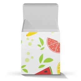 """Коробка для кружек """"Яркие аппетитные тропические фрукты"""" - фрукты, еда, яркие, детские, банан"""