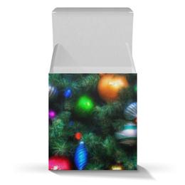 """Коробка для кружек """"Нарядная елка """" - новый год, рождество, игрушка, огни, елка"""
