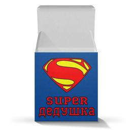 """Коробка для кружек """"Супер Дедушка"""" - супермен, комиксы, дедушка"""