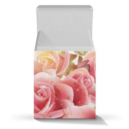 """Подарочная коробка-куб """"Букет роз"""" - цветы, розы"""