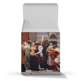 """Подарочная коробка-куб """"Мадонна Чимабуэ (Барон Фредерик Лейтон)"""" - картина, живопись, лейтон"""