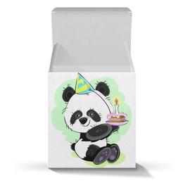 """Коробка для кружек """"Панда поздравляет!"""" - панда, подарок, день рождения, сюрприз, медвежонок"""