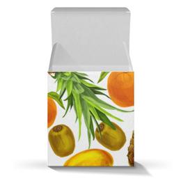 """Коробка для кружек """"Фруктовое ассорти"""" - фрукты, ананас, лимон, киви, апельсин"""