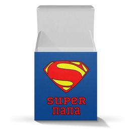 "Коробка для кружек ""Супер Папа"" - супермен, папа, комиксы"
