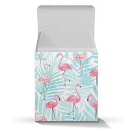 """Коробка для кружек """"Фламинго"""" - птицы, фламинго"""