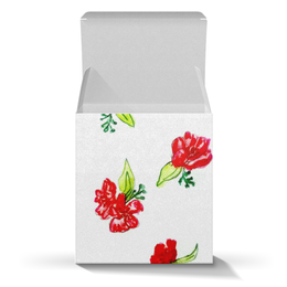 """Коробка для кружек """"Подарочная Красные цветы"""" - красные цветы, маки, цветы, лето"""