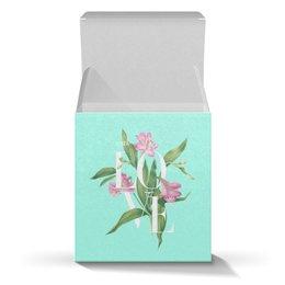 "Коробка для кружек ""With love"" - blue, акварель, цветы, любовь, watercolor flowers"