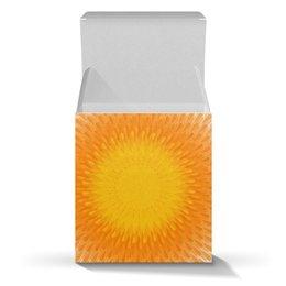 """Коробка для кружек """"Солнечный круг, подарочный орнамент"""" - позитив, солнце, орнамент, абстракция"""