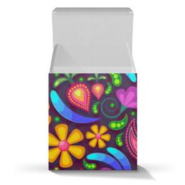 """Подарочная коробка-куб """"Цветочное настроение"""" - цветы"""